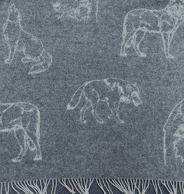 New New Horizons Wolf Grey Throw