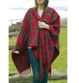 British & Irish Imports Lambswool Tartan Cape Royal Stewart