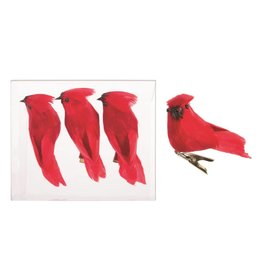 Candym Mini Cardinal Ornaments Set Of 3
