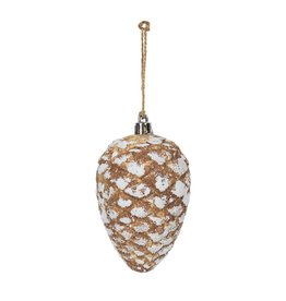 Candym Snowy Pinecone Ornament