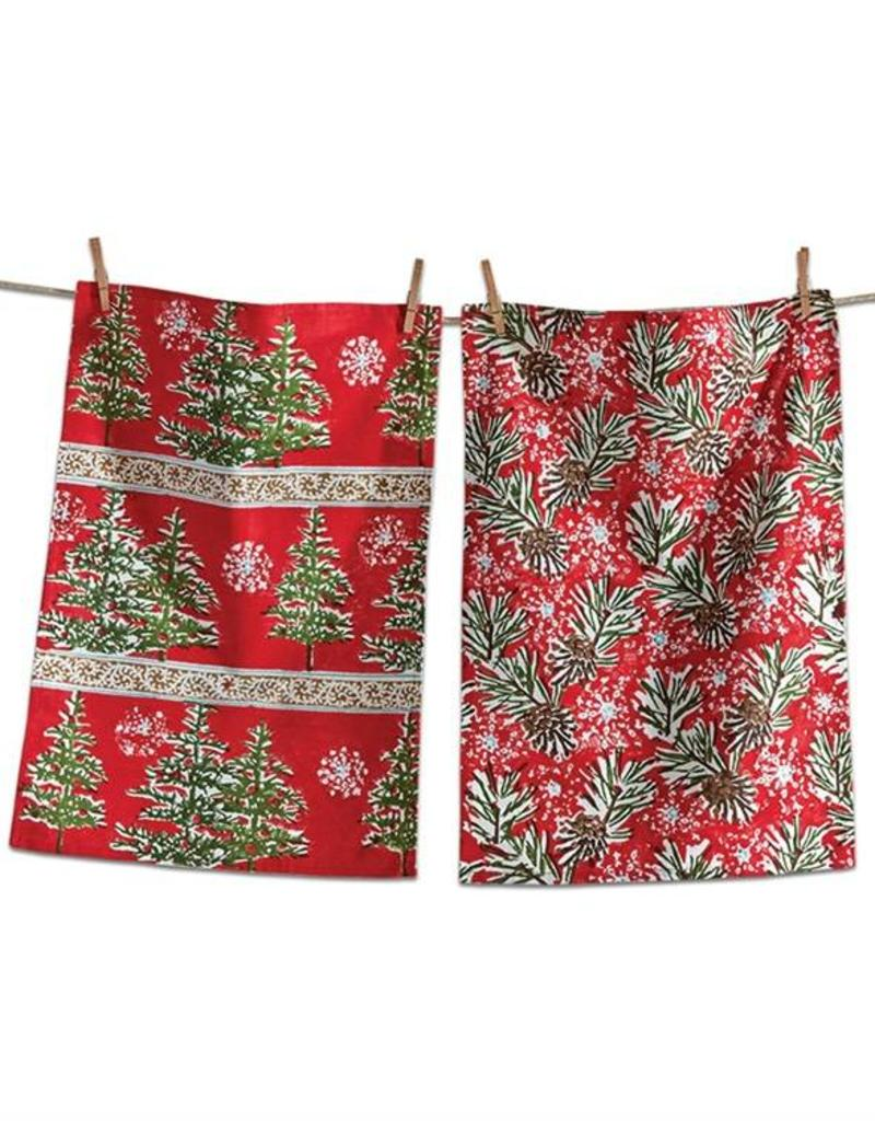 Tag ltd Tis The Season Dish Towel Set