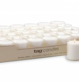 Tag ltd 24-HR Votive Candle - White