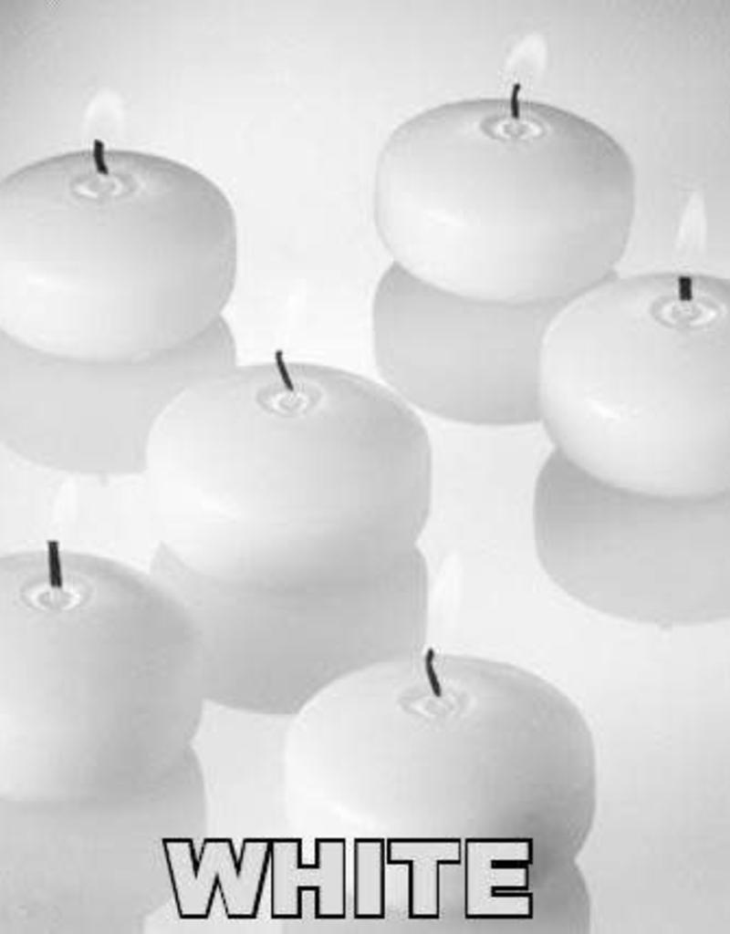Tri W Imports Mini Floater Candle - White
