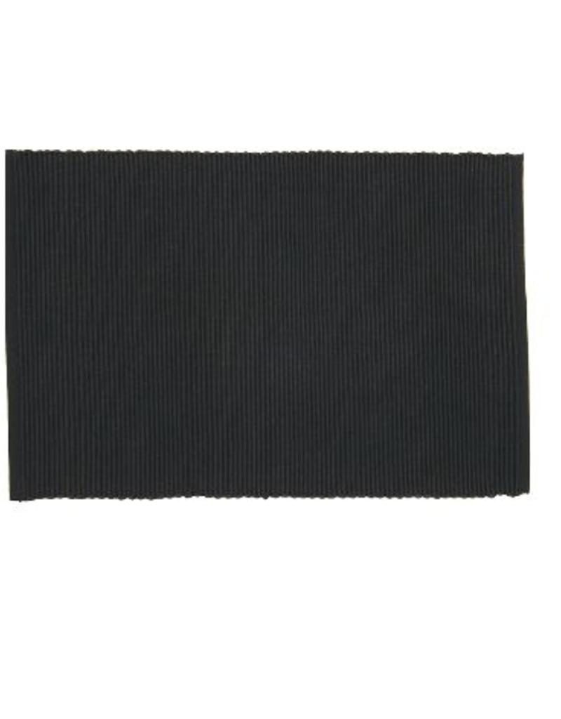 Danica Ribbed Black Placemat