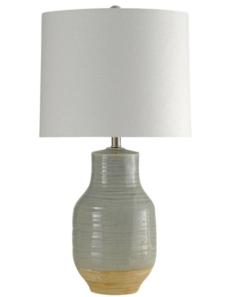 Style Craft Home Collection Prova Gray Dipped Table Lamp