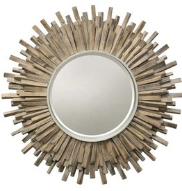 Style Craft Home Collection Starburst Washed Wood Mirror