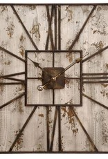 Style Craft Home Collection Rustic Wood Wall Clock