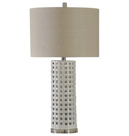 Style Craft Home Collection Ceramic Basket Weave Lamp