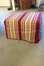 Lee Industries Stripe Ottoman Bess Crimson
