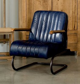 Sarreid Ltd Bel-Air Arm Chair - Chateau Blue Leather