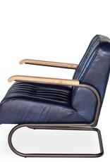 Sarreid Ltd Bel-Air Arm Chair - Chateau Blue Leather