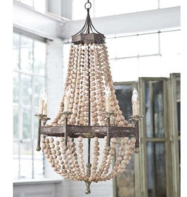 Regina Andrews Regina Andrew Scalloped Wood Chandelier
