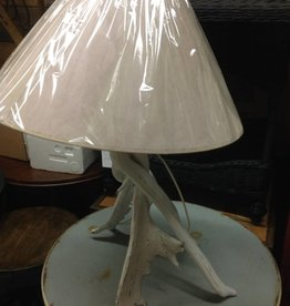 Paul Allen Moose Antler Table Lamp White