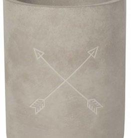 Danica Utensil Crock - Concrete Arrows
