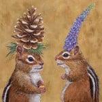 Chipmunk Courtship Serviettes