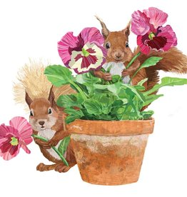 Paper Products Design Flower Pot Squirrel Serviettes