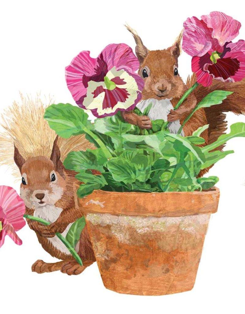 PPD Flower Pot Squirrel Serviettes