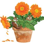 PPD Flower Pot Chipmunks Serviettes