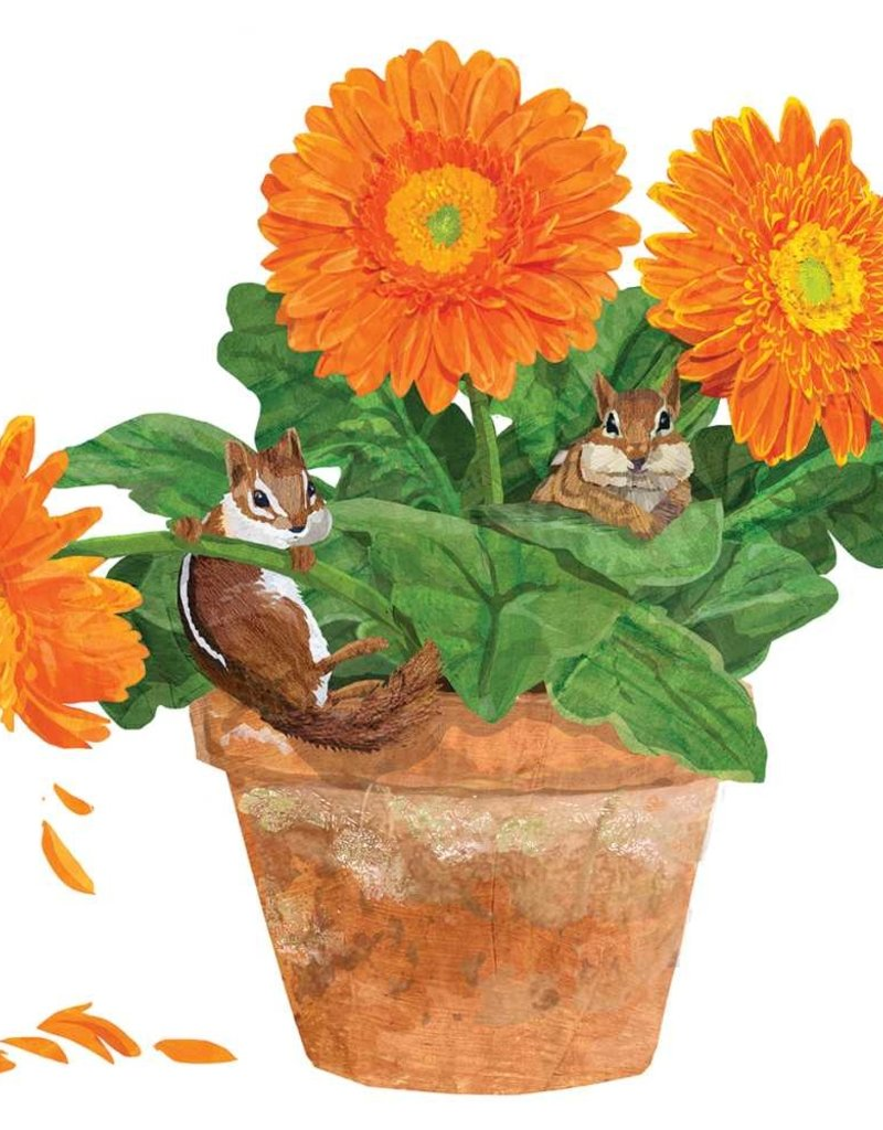 PPD Flower Pot Chipmunks Serviettes