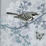 Old Country Design Bird In A Tree Serviettes