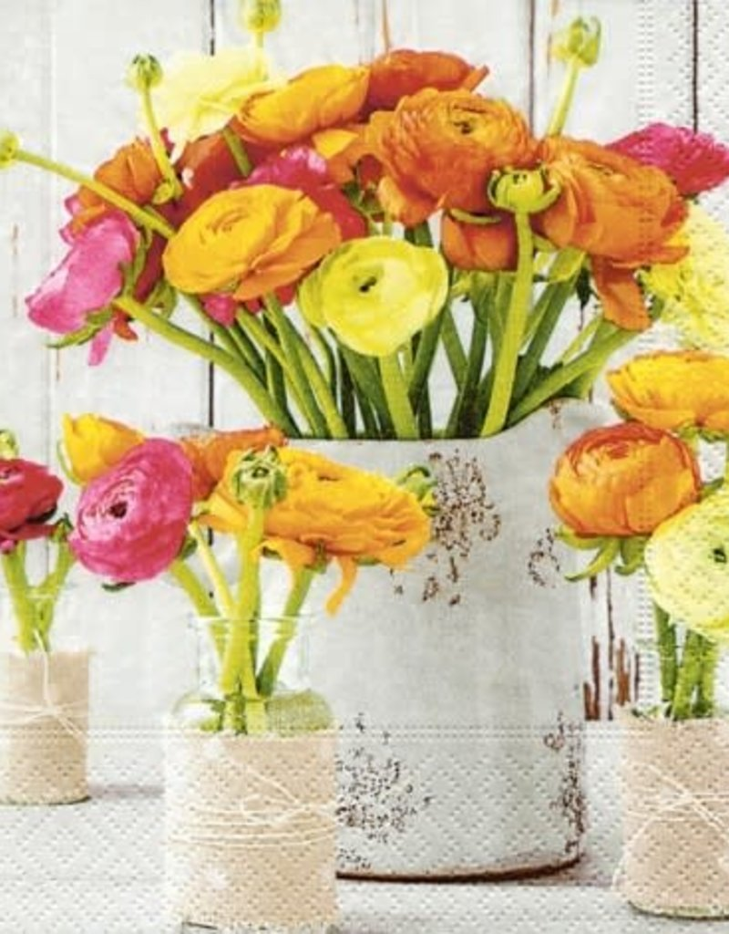 Old Country Design Ranunculus Serviettes