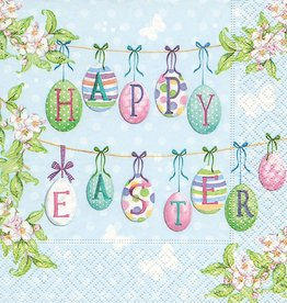 Old Country Design Happy Easter Egg Serviettes