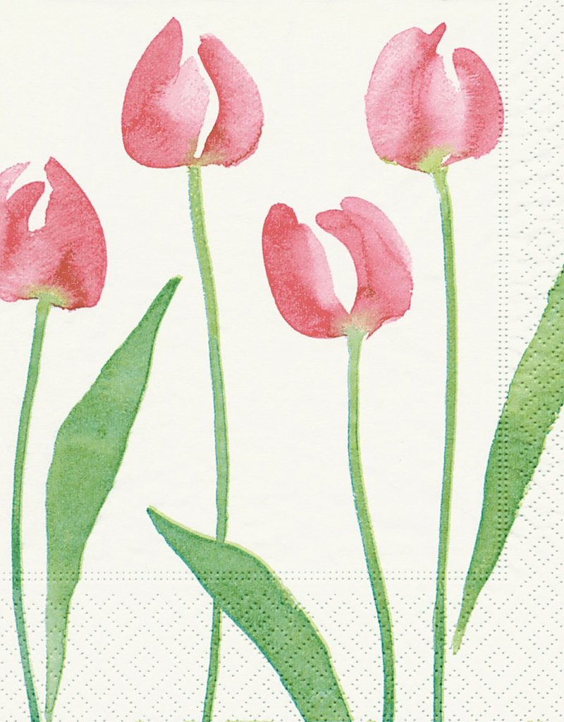 Old Country Design Watercolour Tulip Serviettes