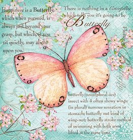 Old Country Design Butterfly Poetry Serviettes