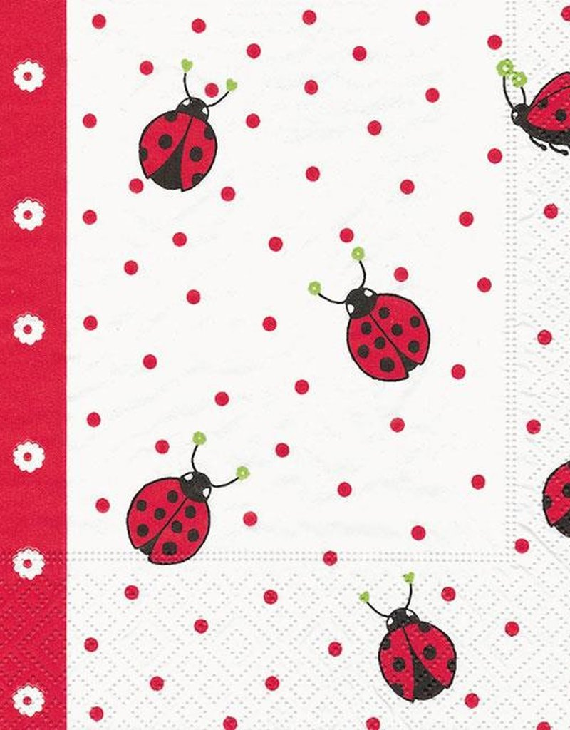 Old Country Design Ladybugs & Dots Serviettes