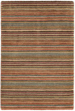 Dash & Albert Brindle Stripe Spice Hand Knotted Rug 2x3