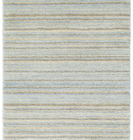Dash & Albert Brindle Stripe Sea Hand Knotted Rug 2x3