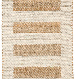 Dash & Albert Milo Ivory Jute/Cotton Rug, 8x10