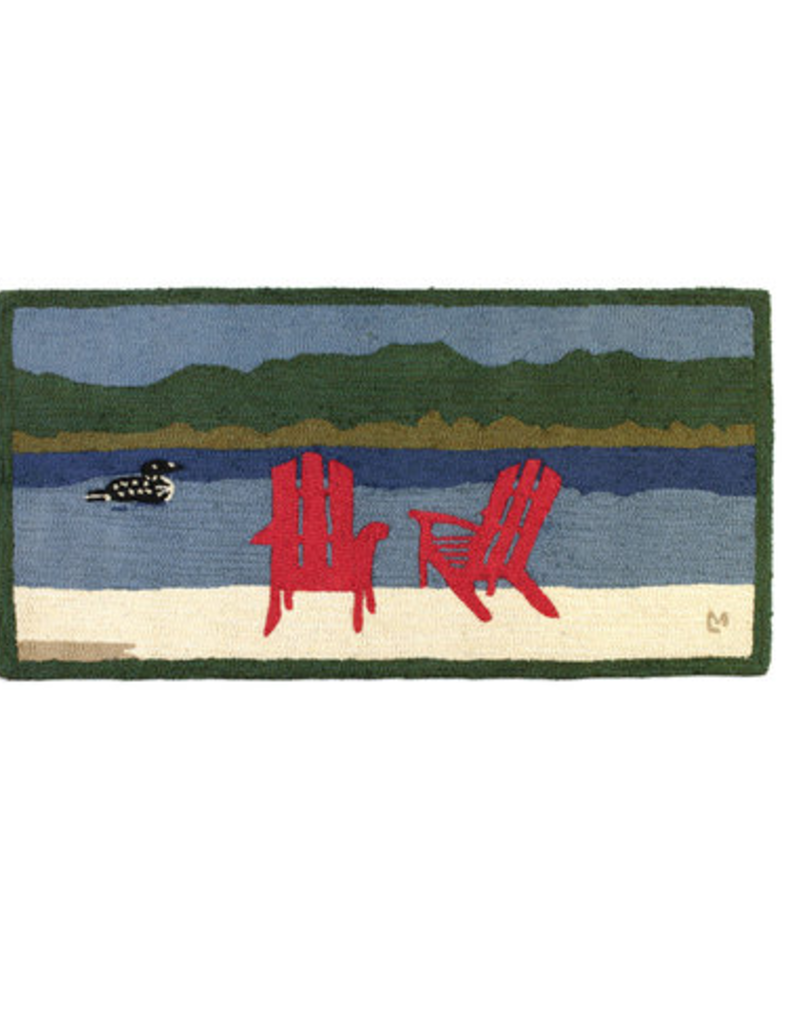 Chandler Four Corners Loon Lake Chairs 2x4' Hooked Rug