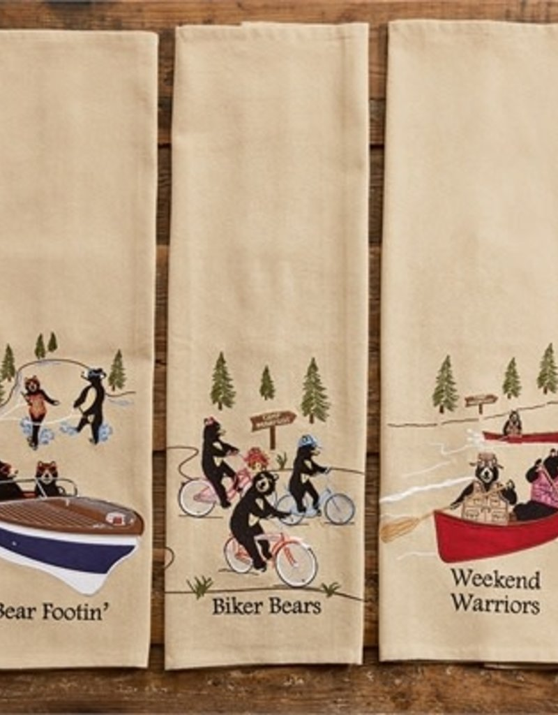 Park Design Bear Footin' Embroidered Dish Towel