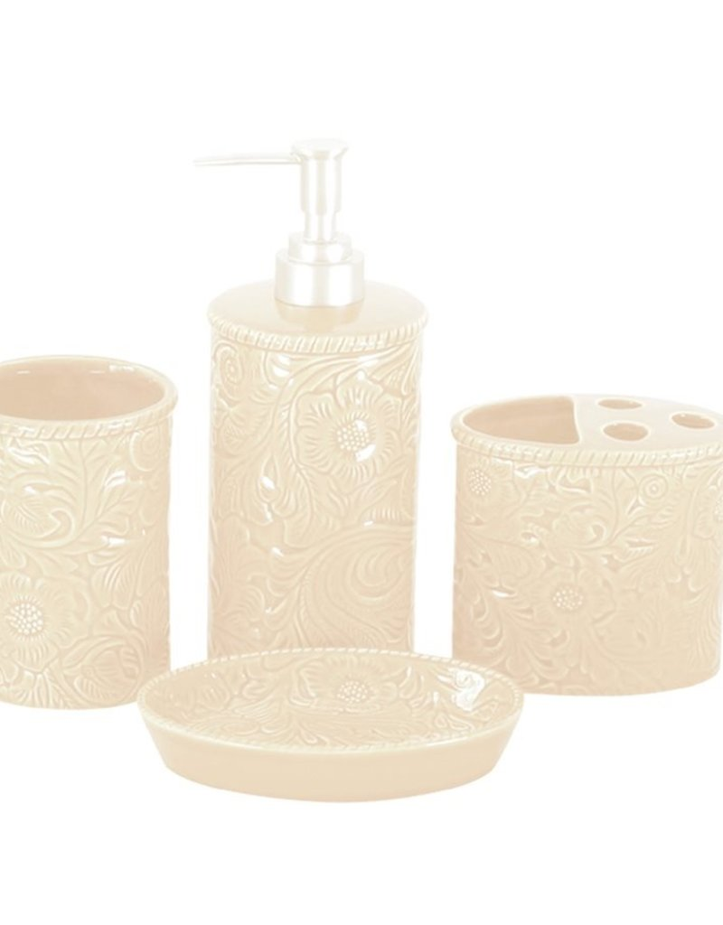 HiEnd Accents Savannah Bathroom Set, Cream