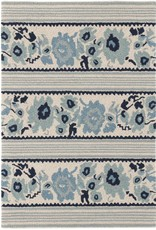 Dash & Albert Vintage Floral Stripe Rug 2x3