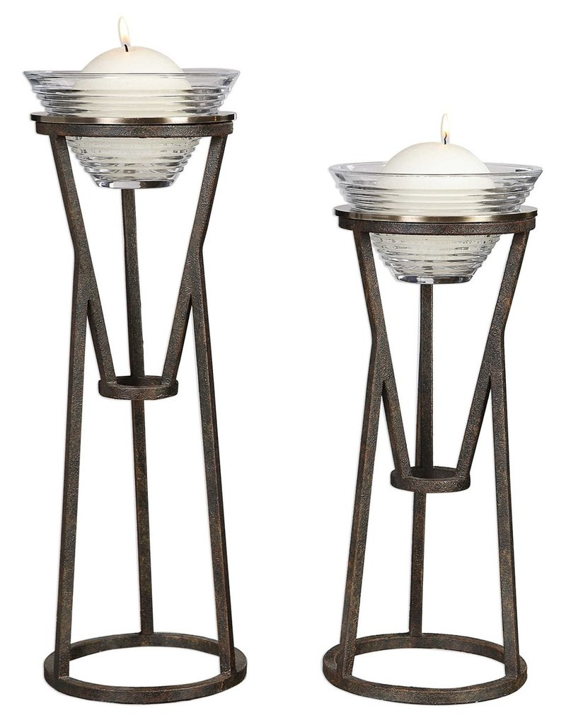 Uttermost Lane Candleholders, Set of 2