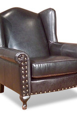 Legacy Leather Queen Ann Chair - Bromton Chocolate