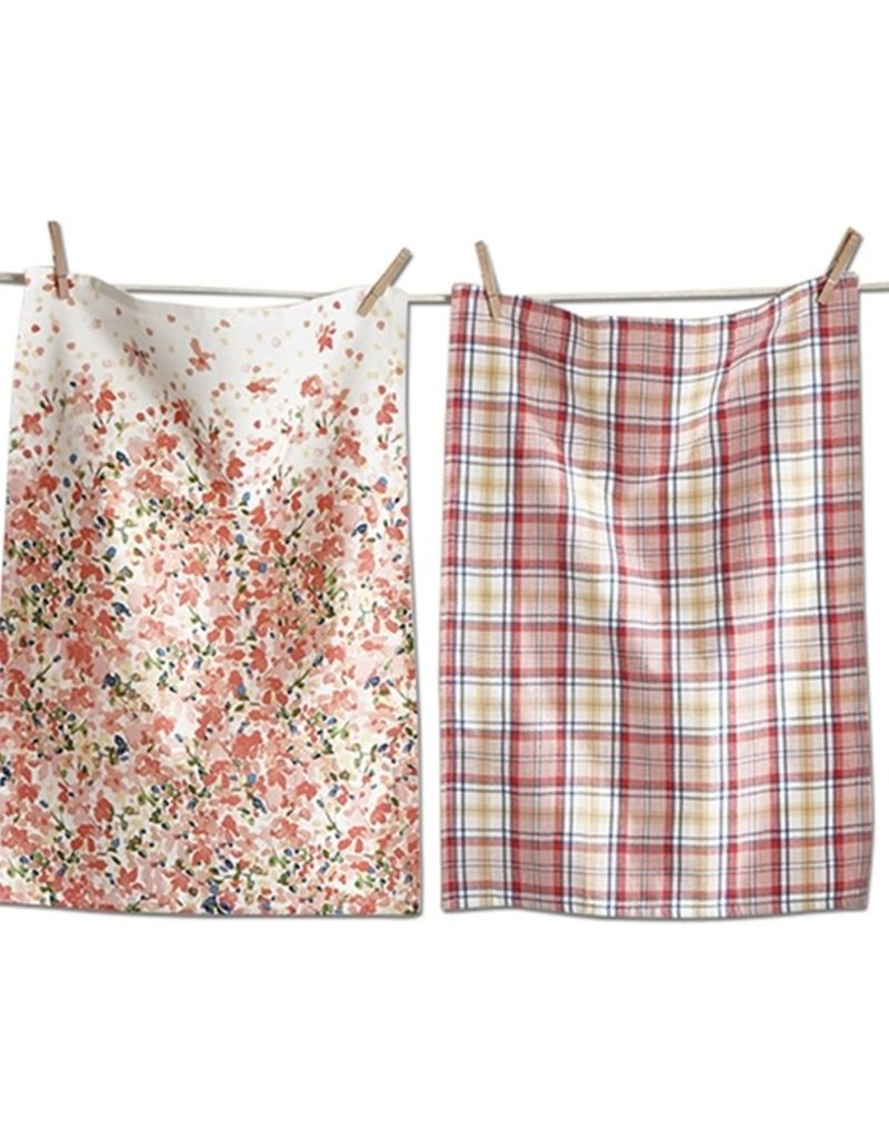 Tag ltd Petals Dish Towel Set of 2
