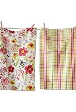 Tag ltd Fresh Flower Garden Dishtowel Set of 2