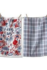 Tag ltd Happy Day Dishtowel Set of 2