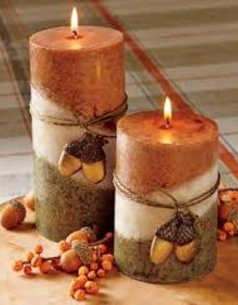 Tag ltd Fall 3x6 Candle w/ornament