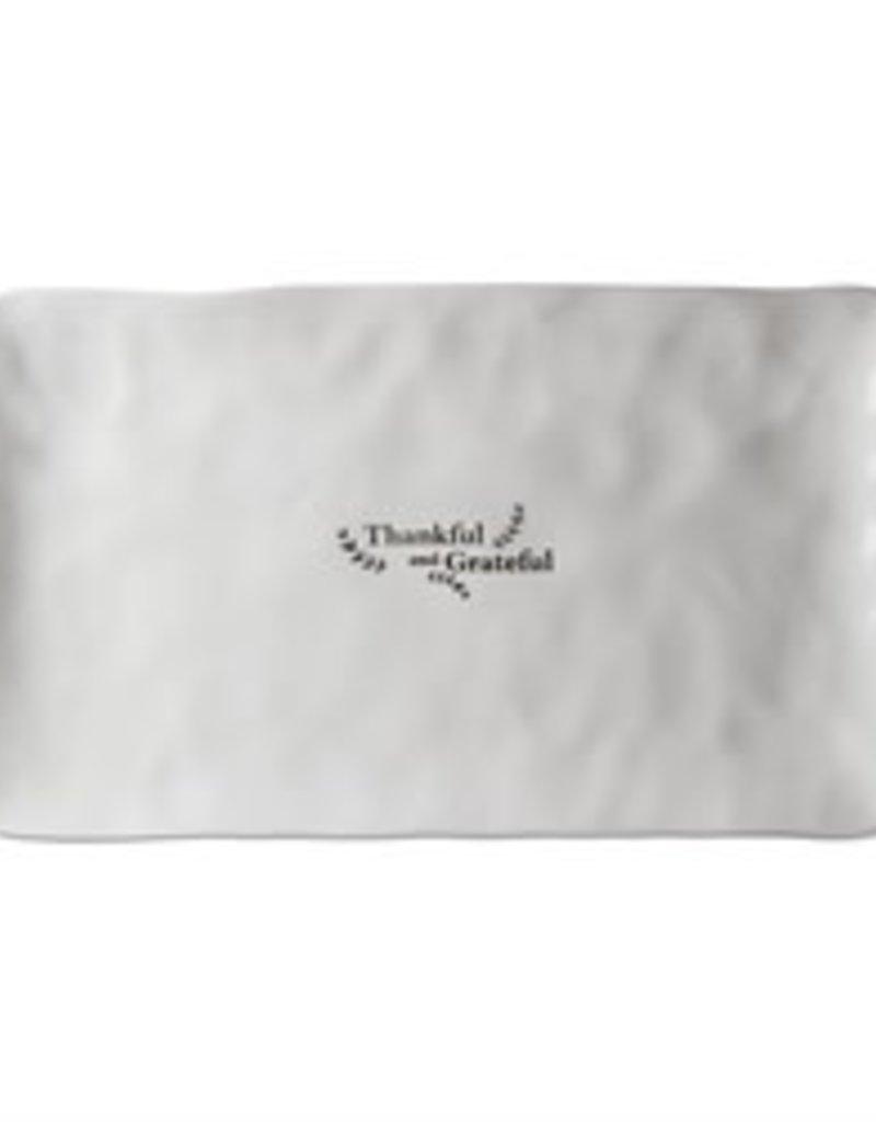 Tag ltd Thankful Grateful Rectangular Platter