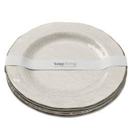 Tag ltd Veranda Ivory - Melamine Salad Plate S/4