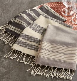 Tag ltd Hand Towel S/3- Grey Village Fringed
