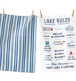 Tag ltd Dishtowel S/2 - Lake Rules