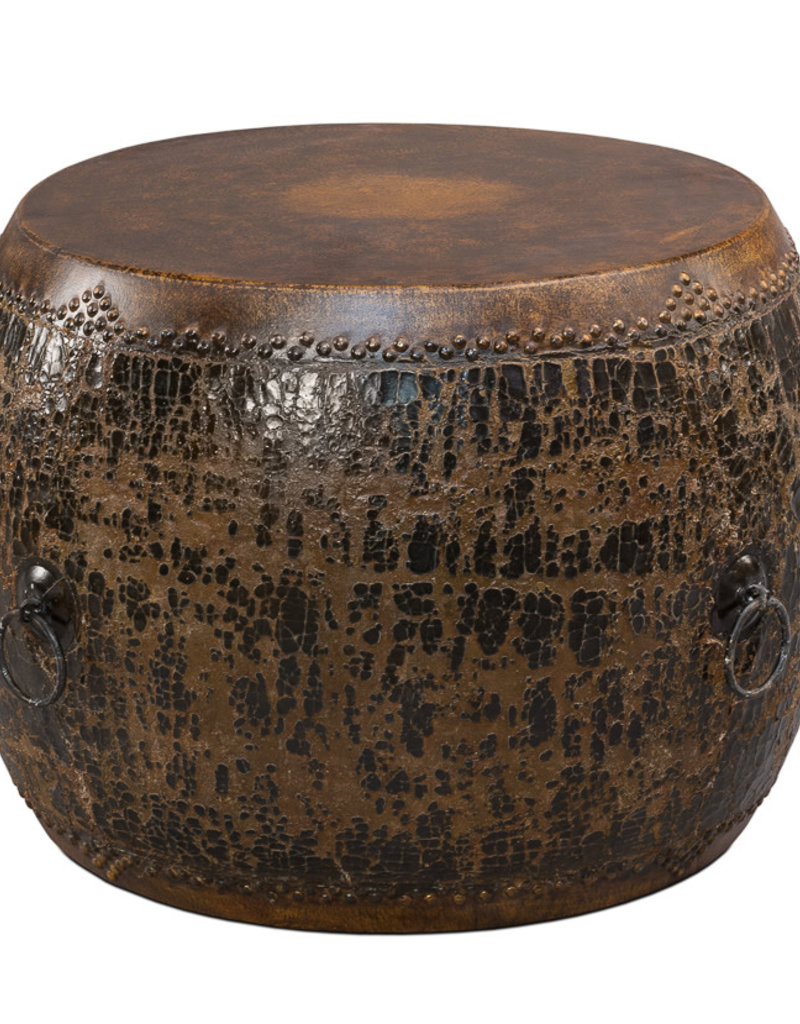 Sarreid Ltd Black Drum Side Table