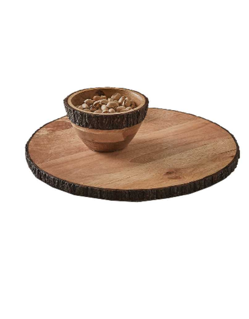 Park Design Bark Edge Round Server