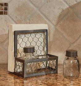 Park Design Chicken Wire S&P/Napkin Holder