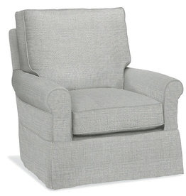 Four Seasons Libby Swivel Glider & Ottoman - Patrol Corn